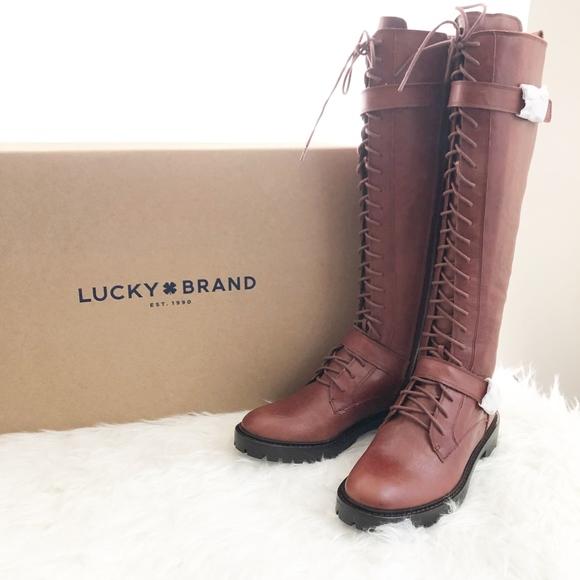 0ff9fdb4a30 Lucky Brand Women's Inniko Boots Rye 7M NWT